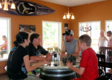 Enjoy a meal after your rafting trip
