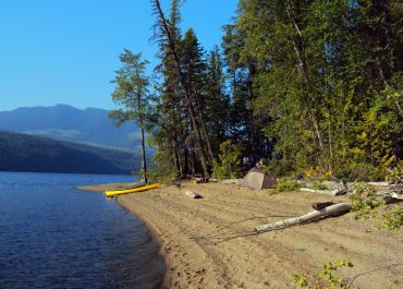 Camping on Mahood Lake, Wells Gray Park