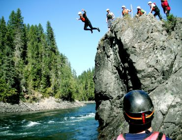 Cliff Jumping on the Clearwater River