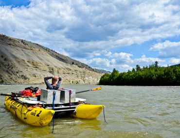 Relaxing on the Chilcotin River