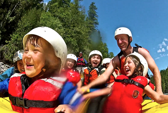 Family Rafting on the Clearwater River, BC