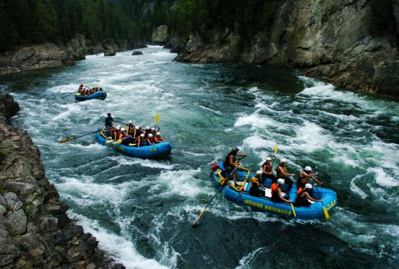 Whitewater Action in Wells Gray Park with Entertaining Guides
