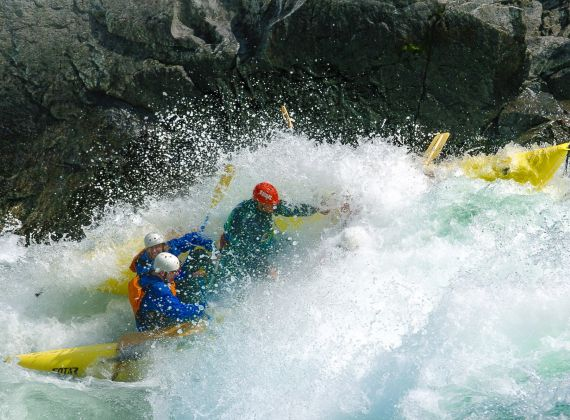 River Rafting on the Clearwater River, BC